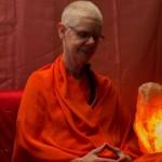 Mataji meditating at satsang