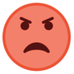 Angry face emoji representing how to deal with anger and stress